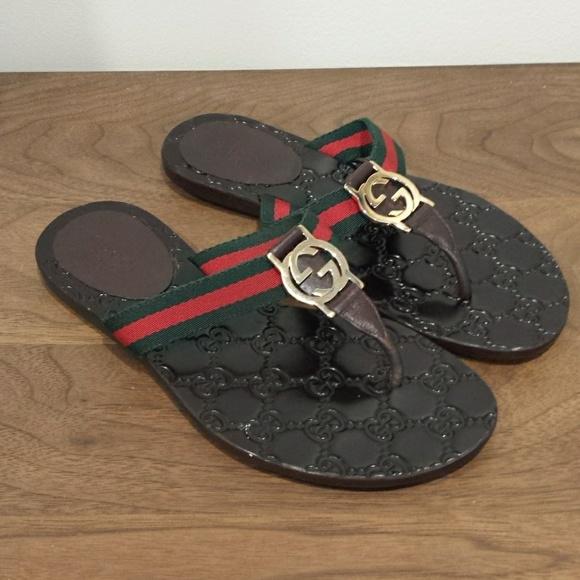 a680e3be1 Gucci Shoes - Gucci GG Logo Sandal size 34